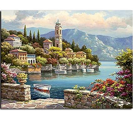 WYTCY con Telaio Immagini di Paesaggi Marini Pittura By ...