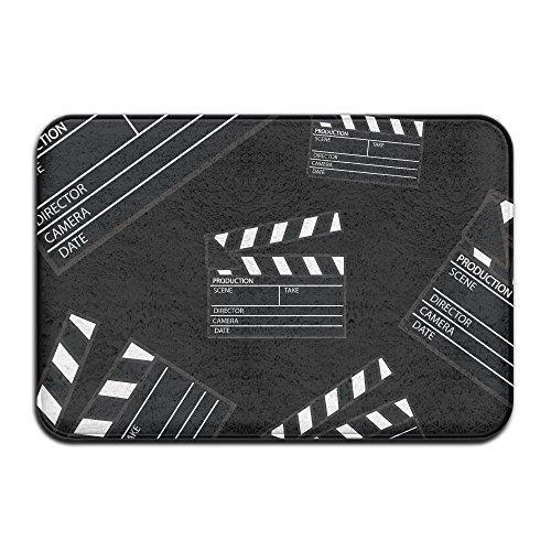 Movie Clapper Anti-Slip Floor Mat Rugs Doormat Living Room Bedroom Carpet 40 X 60cm by Xieshengwu