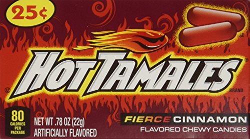 - Hot Tamales-24ct-Individual Mini Boxes Hot Cinnamon Flavor-(Net Wt. 18.72oz)