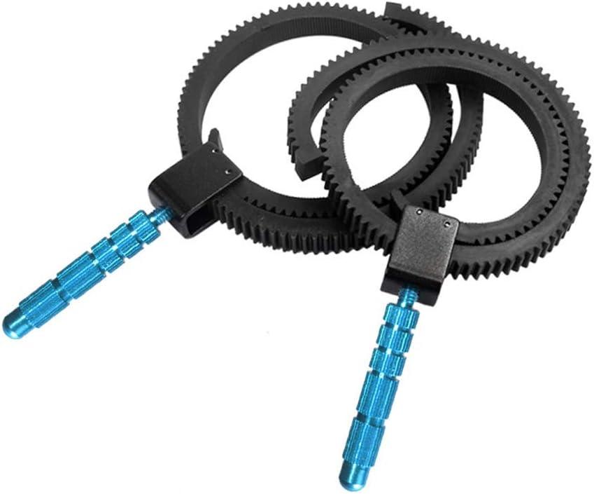 Adjustable Lens Follow Focus Gear Ring Belt for DSLR Camera Camcorder 0.8Mod