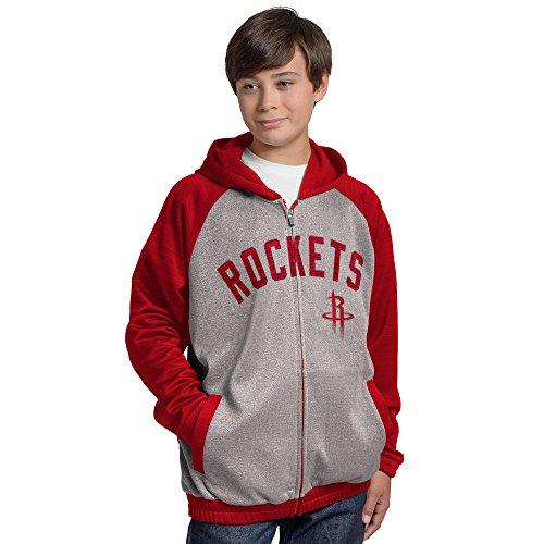 G-III Sports NBA Houston Rockets Legend Hooded Track Jacket, Large, Gray