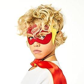- 51NpQf0G9jL - 30 Superhero Masks Kids-Super Hero Party Supplies Justice League Birthday Favors
