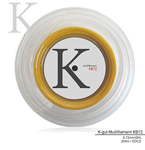 「エントリーでグリップ対象」KPI「K-gut Multifilament KB72 200mロール」バドミントンストリング B00K0887UM