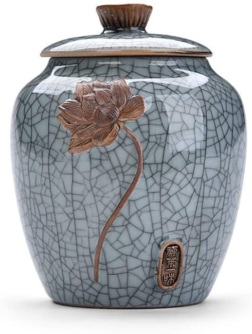 IG Cremation Urn for Human Ashes Funeral Urn Handcrafted Affordable Urn for Ashes Burial Urns at Home Keepsakes,Blue-1
