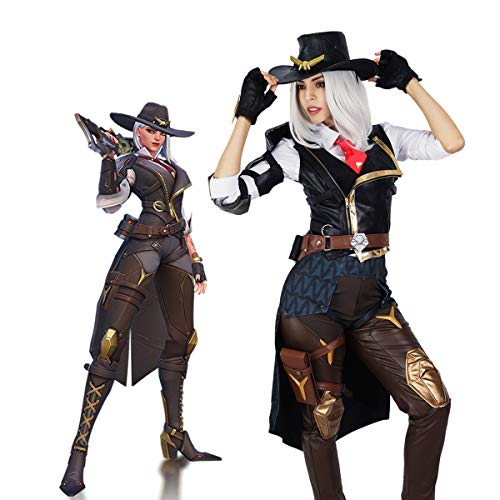 Overwatch Ashe Cosplay Costume Deluxe Full Sets Halloween Game Hero