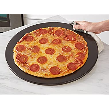Heritage, 15 inch Black Ceramic Pizza Stone - Professional Grade Baking Stones for Oven, Grill, BBQ- Non Stain- with Pizza Cutter