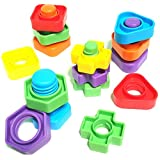 Jumbo Nuts & Bolts Set with Matching Toys Pattern Card and Travel Backpack 12 pc Montessori Materials Fine Motor Fidget Bath Toy Toddler Games Colors and Shapes Occupational Therapy Autism