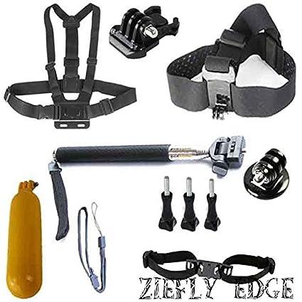 Para GoPro héroe accesorios Set Arnés Casco Cinturón de pecho ...