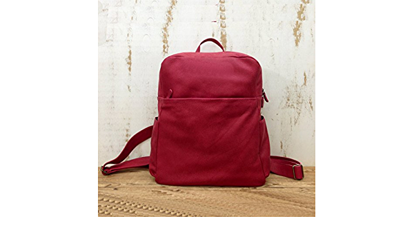 Sale!! Deep Red Leather backpack Women/'s travel backpack purse burgundy Rucksack Macbook air pro backpack bag lightweight backpack