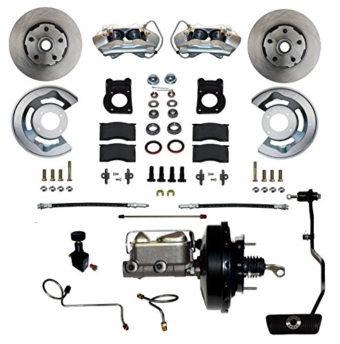 "GPS Automotive FC0002-3405A - Power Conversion Kit with 9"" Black Booster Cast Iron M/C Adjustable Proportioning Valve - Automatic Transmission"
