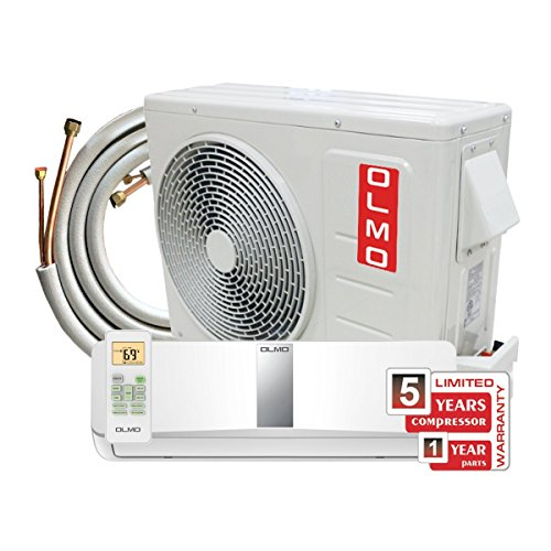 OLMO 24,000 BTU Wall Mount Ductless Mini Split Air Conditioner 230V Complete Set 16' copper line