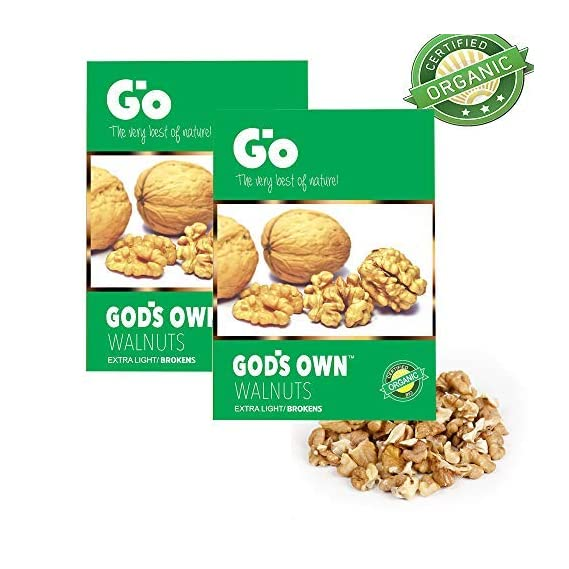 Go Organic Extra Light Broken Walnut Kernels Without Shells 500g (2x250g)