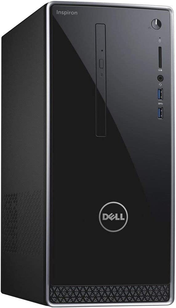 Dell Inspiron High Performance Tower Computer PC (Intel Quad Core i7-7700, 16GB_DDR4 Ram, 128GB_SSD+1TB_HDD, NVIDIA GeForce GTX_1050, HDMI, WIFI, DVD-RW) Win 10 Pro