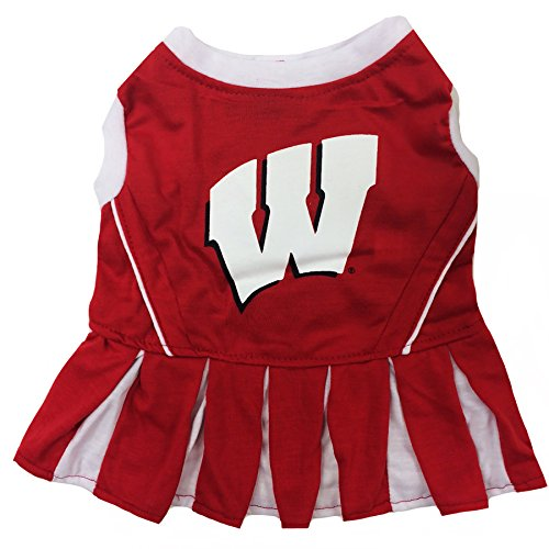 NCAA Wisconsin Badgers Dog Cheerleader Outfit, Medium]()