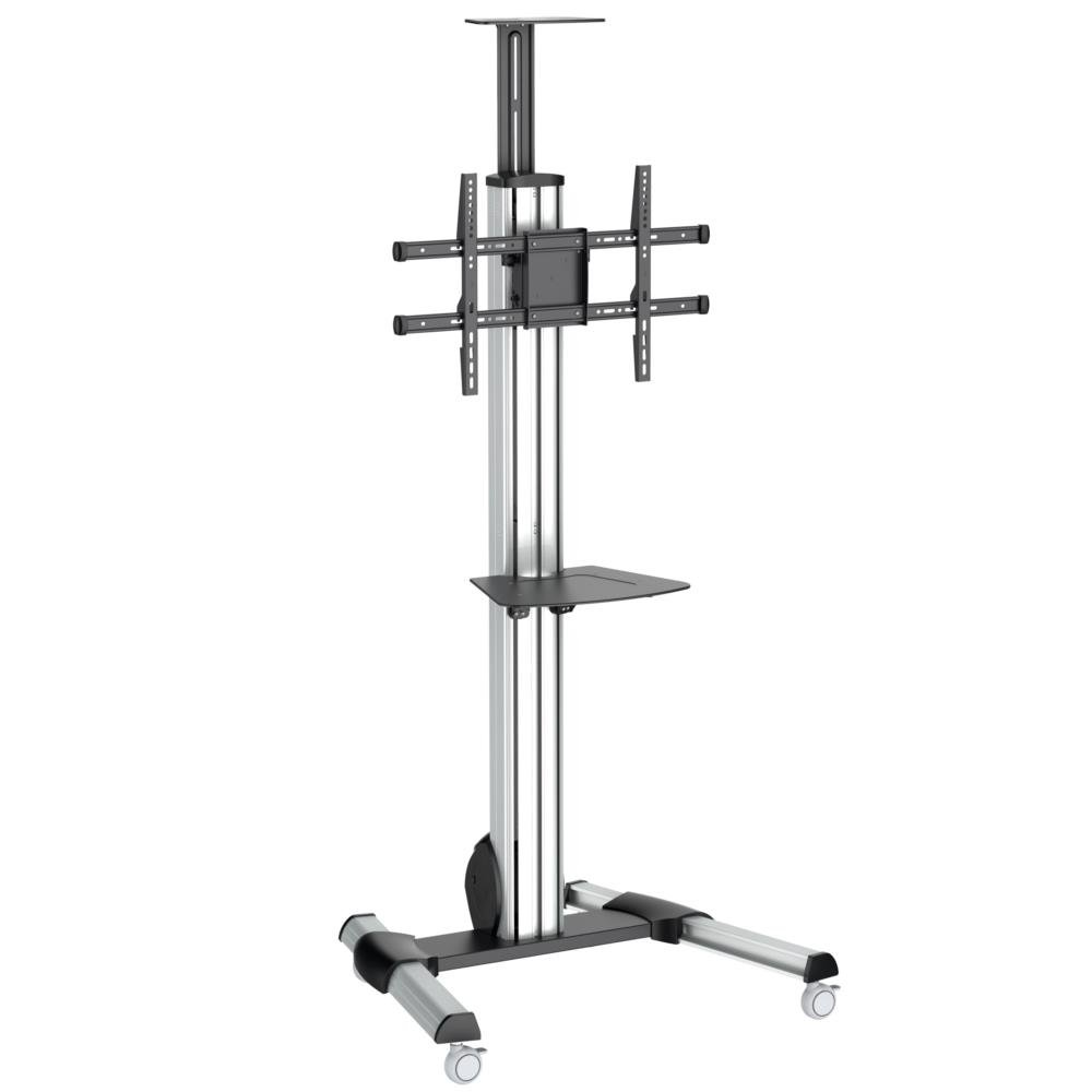TV Cart - for 32'' to 70'' Displays - One-touch Height Adjustment - Portable TV - AV Cart - Mobile TV Stand - Rolling TV Cart
