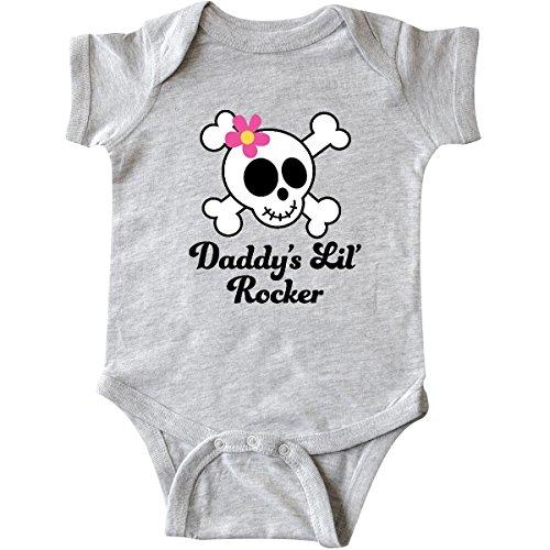 inktastic - Daddy's Little Rocker Infant Creeper 6 Months Heather Grey - Clothes Infant Rocker