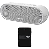Sony XB20 Portable Wireless Speaker with Bluetooth, Grey - SRSXB20/WHT (2017 model) + Bluetooth 4.1 Stereo Receiver and Transmitter 2 in 1