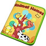 Lelebe Quiet Book by Best Educational Toy for Toddlers, Cloth Book Animal Home,10 Animals in Book,Can You Find--Very Interesting Book for Kids
