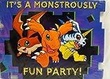 Digital Digimon Monsters Invitations