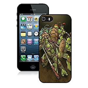 Beautiful DIY Designed With Teenage Mutant Ninja Turtles Cover Case For iPhone 5S Black Phone Case CR-615