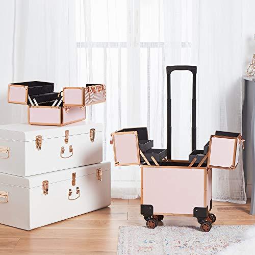 beautify ros 233 goldener trolley reiseetui kosmetikkoffer gep 228 ck ebay