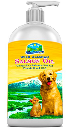 OMEGA 3 Fish Oil For Dogs & Cats -Dog Food Supplement With Alaskan Salmon Oil Icelandic Fish & Organic Borage Oil -GLA & Vitamin E + DHA & EPA For Healthier Coat & Joint Health (8 oz) - Oil Dog