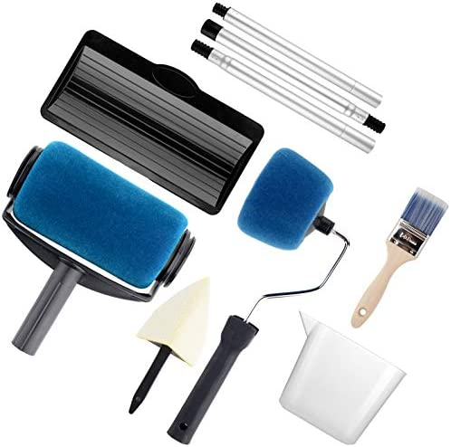 6cm Wall Paint Roller Set /& 23inch Extendable Rod 2-section Painting Tools