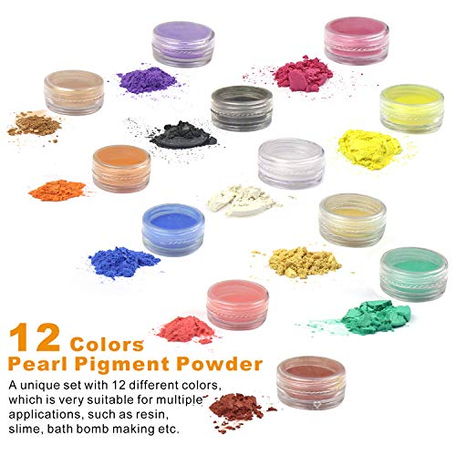 50 Pack Resin Jewelry Making Supplies Kit LET'S RESIN Art Craft Supplies for Resin, Slime, Nail Art, DIY Craft, Including Glitter Sequins,Pearl Pigment, Mylar Flakes, Dry Flowers, etc by LET'S RESIN (Image #3)