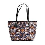 Coach Signature City Zip Tote Bag Handbag (SV/Blue Orange Multi)