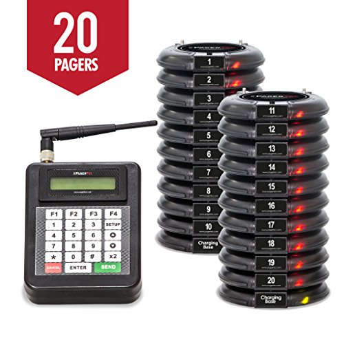 Digital Coaster 2.0 Paging System, Coaster Style System,Red LED Lights (Set of 20)