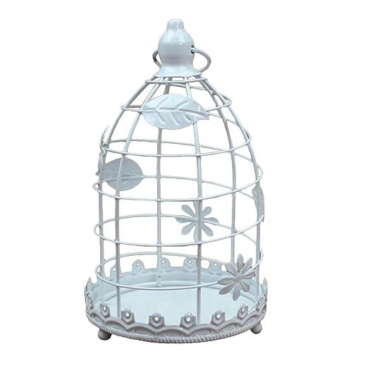 Aikesi Candelero clásico en Forma de Jaula de pájaros Metal ...