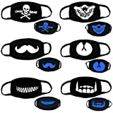 Vankcp 6Pcs Luminous Mouth Mask Individuality Unisex for Party, Masquerade Ball