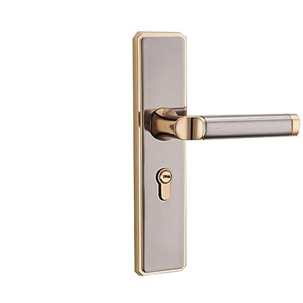 WXAIN manija de la puerta con cilindro de cerradura, juego de herrajes, palancas mecánicas