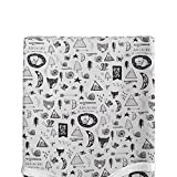 Changing Table That Goes Over Crib Glenna Jean Changing Pad Cover, Adventure, Black, Standard