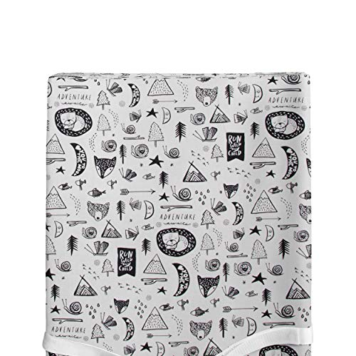 Glenna Jean Changing Pad Cover, Adventure, Black, Standard