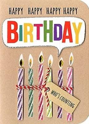 Velas de cumpleaños para cumpleaños con texto en inglés ...