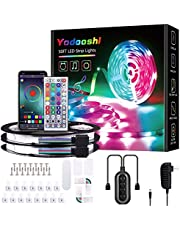 Yodooshi Led Lights Strip for Bedroom 50ft, 2 Rolls of 25ft Led Light Strips,with App Control, Suitable for Living Room, Bedroom, Holiday Decoration
