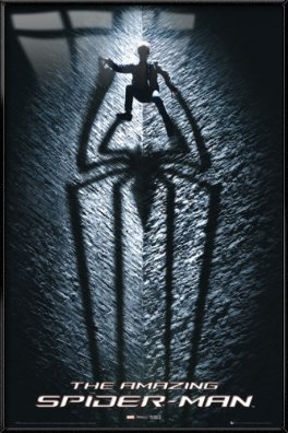 "The Amazing Spider-Man - Framed Marvel Movie Poster / Print (Teaser / Black) (Size: 24"" x 36"") (By POSTER STOP ONLINE)"