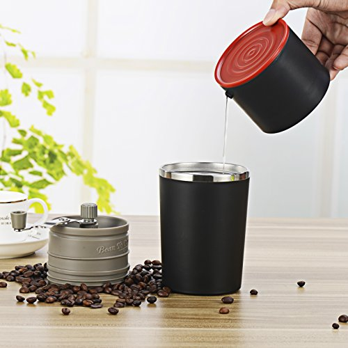 Coffee Travel Mug, Yona Portable All-in-one Coffee Maker Tumbler Hand Mill Grinder Dripper in ...