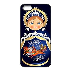 iPhone 5S Protective Case - Russian Doll Hardshell Carrying Case Cover for iPhone 5 / 5S