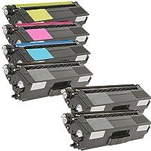 6 Inkfirst® Toner Cartridges TN315 TN-315 Compatible Remanufactured for Brother TN-315 Black, Cyan, Magenta, Yellow (1 Set + 2 Black) MFC-9970CDW HL-4150CDN HL-4570CDW HL-4570CDWT MFC-9460CDN MFC-9560CDW TN315BK TN315C TN315M TN315Y