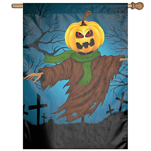 XIAOTT Premium Garden Flag Decoration Scarecrow for Halloween Yard Flag One Sided Reads Correctly