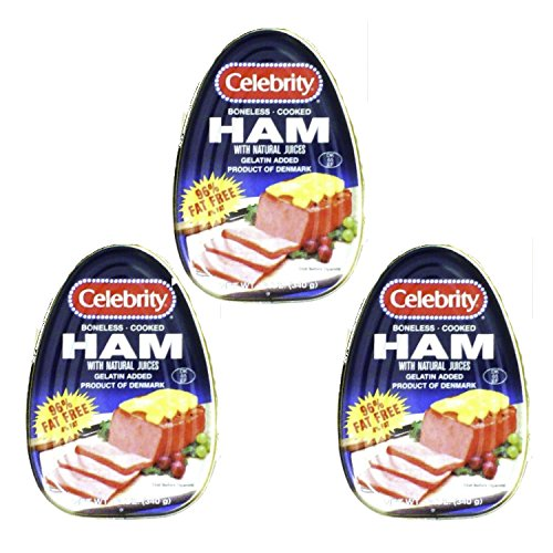 Christmas Ham - CELEBRITY HAM COOKED CANNED BONELESS PRODUCT OF DENMARK 12 OZ (Pack of 3)