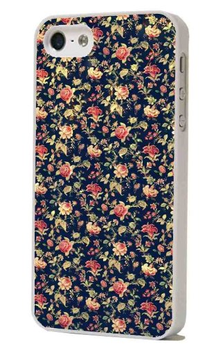 Jahrgang Roses Flowers Retro Shabby Chic Vintage Design iphone 5 5S Case Back Cover Metall und Kunststoff