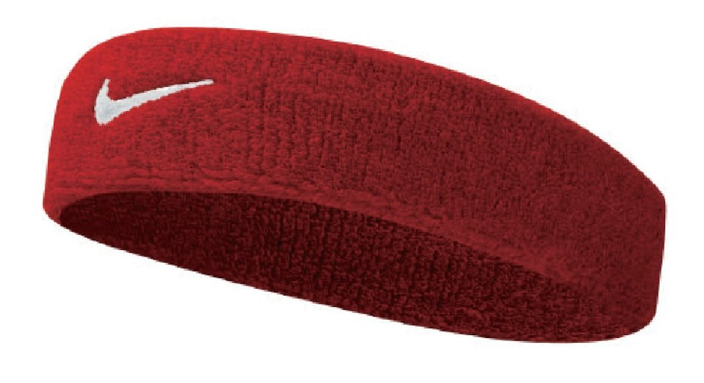 Nike Swoosh Headband (Varsity Red/White, Osfm) by Nike