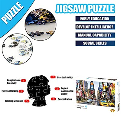 Kanzd Jigsaw Puzzle 1000 Pieces for Adults, Landscape Building Pattern Adult Children Puzzle Intellective Educational Toy Gift (A): Toys & Games