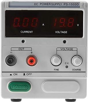Regulated Power Provide 0 to 30V 0 to 10A Output 3LED DC Power Provide Variable 100-240V US Plug