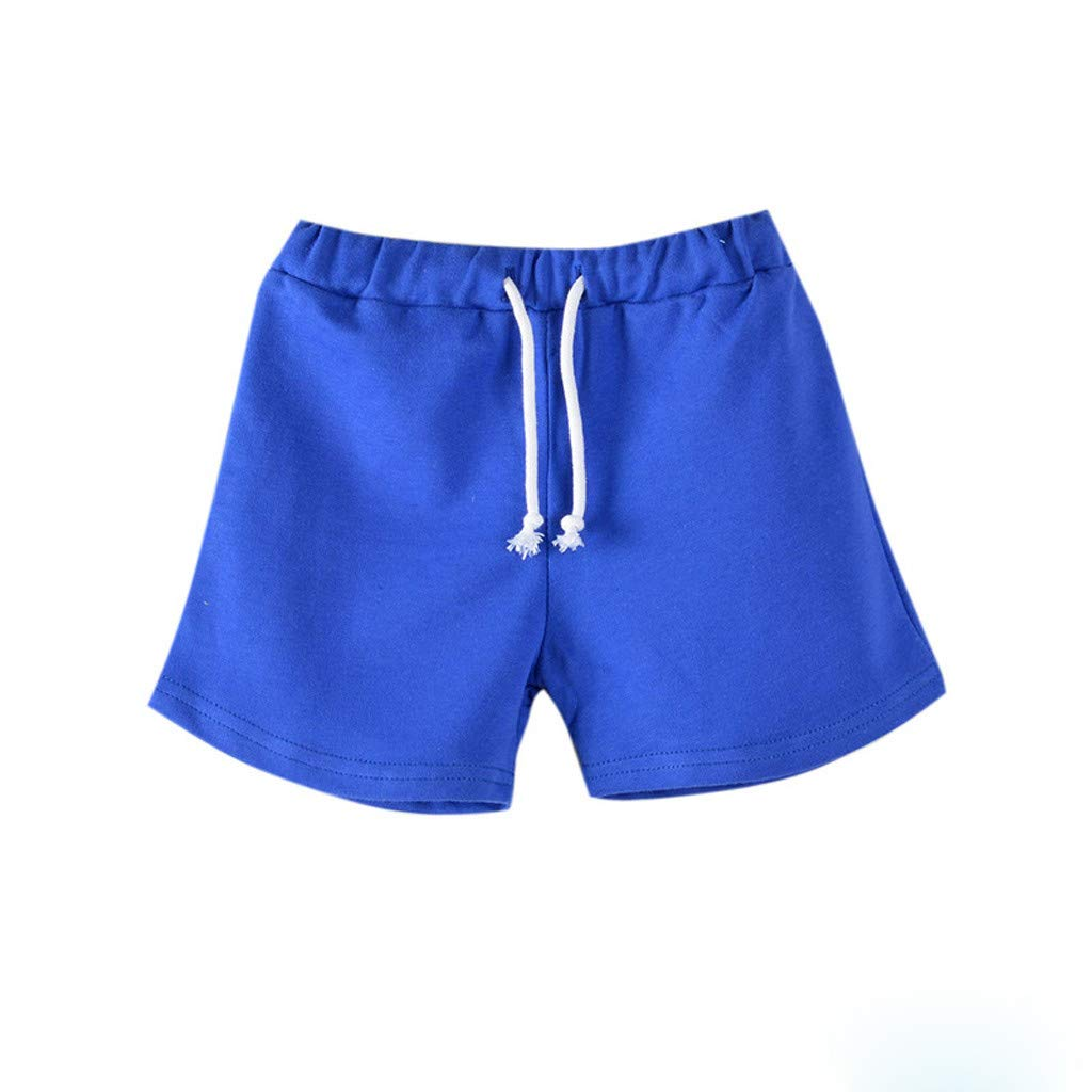 Newborn Toddler Baby Boy Girl Shorts Summer Cotton Kid Soft Short Pants Casual Clothes (110, Dark Blue)