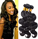 Virgin brazilian hair body wave bundles 100% unprocessed human hair Brazilian virgin hair 3 bundles deals body wave natural color for black women (22 24 26)