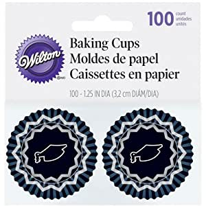 Wilton Baking Cups, Mini, Graduation, 100-Pack by Notions - In Network